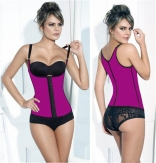 Rosy 4 Steel Boned Latex Waist Trainer Vest